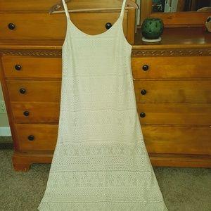 Juniors Lace Strappy Maxi Dress Large Juniors